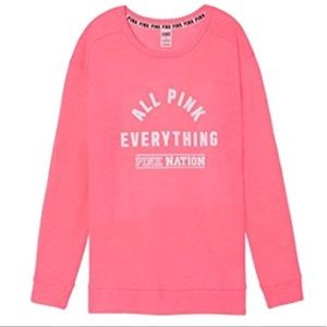 🎉Like New🎉All Pink Everything Crew Neck 💕 Pink